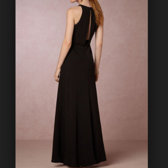Bhldn Black Maxi Dress Prom Wedding
